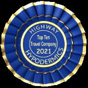 Highway Hypodermics 2021 Travel Company Award badge
